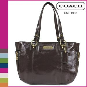 Coach 20431 Vintage Brown Patent Leather Handbag
